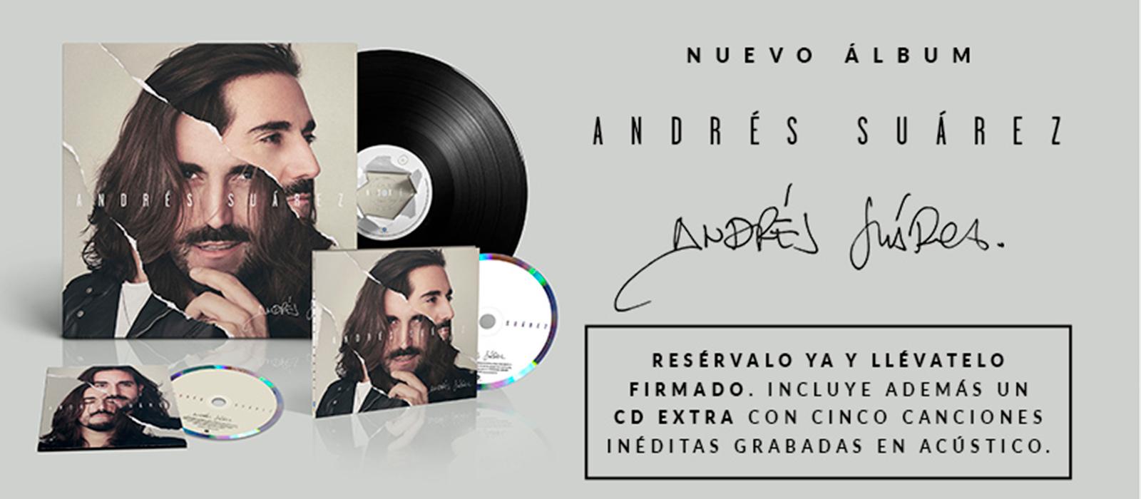 Ya disponible en preventa el nuevo disco de Andrés Suárez