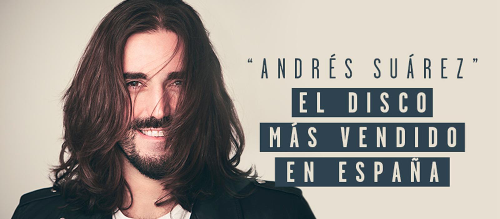 """""""Andrés Suárez"""" el disco más vendido en España"""