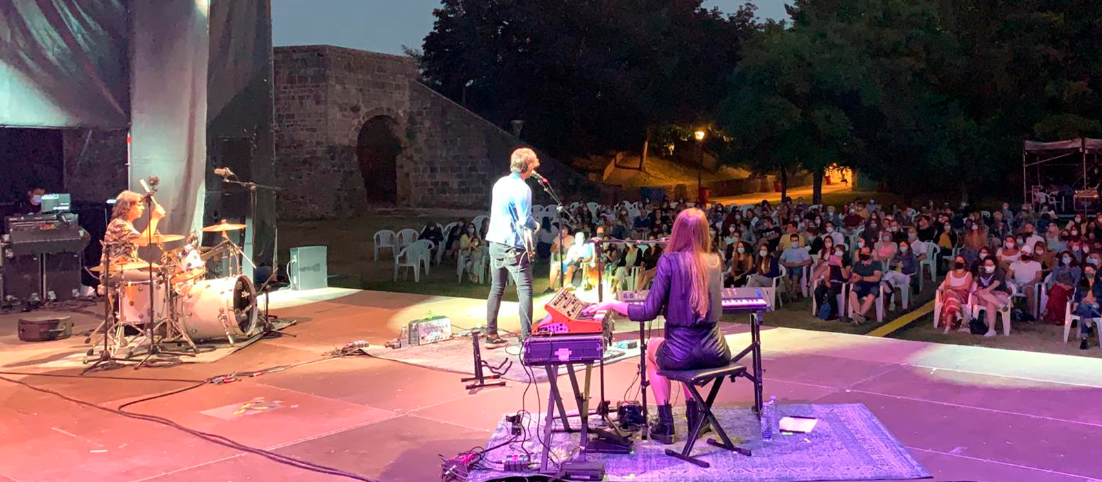 David Otero da comienzo a su gira 'Otero y Yo' en la Ciudadela de Pamplona